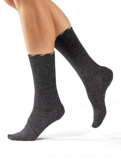 Lambswool-Socke Antibakteriell 2P.