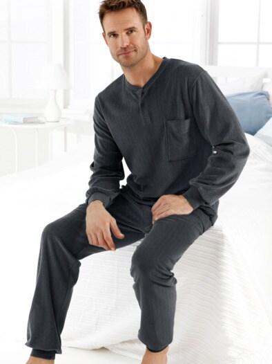 Schlafanzug Thermo-Ripp