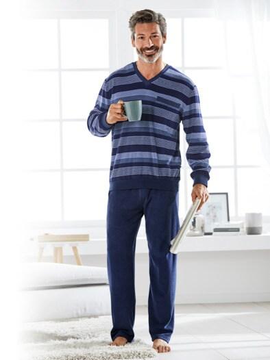 Thermo-Frottier-Schlafanzug