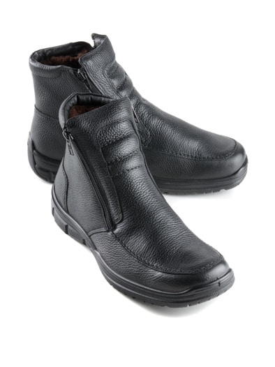 Lammfell-Reißverschluss-Stiefel