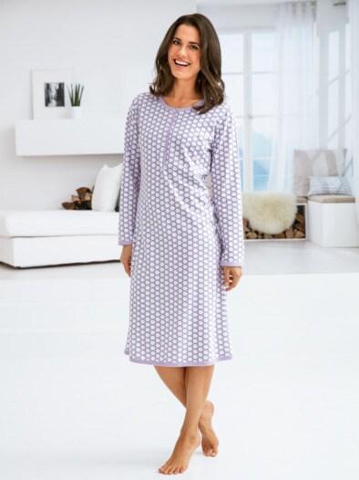 Soft-Baumwoll-Nachthemd Mosaik