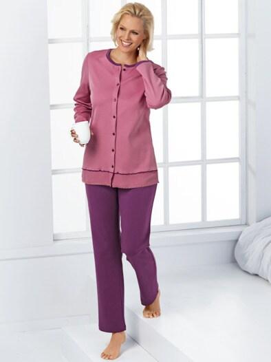 Thermofit-Schlafanzug m.Knopfleiste