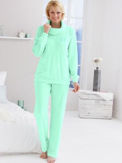 Frottier-Rollkragen Schlafanzug