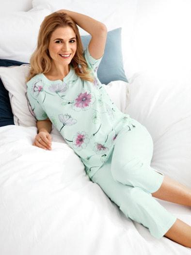 Schlafanzug Mohnblüten
