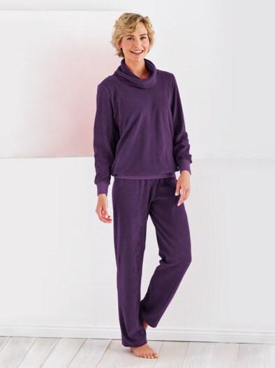 Frottier-Schlafanzug Rollkragen