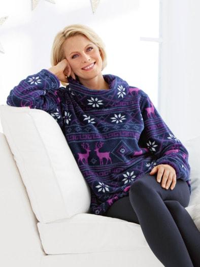 Kuschelfleece-Pullover Polarnacht