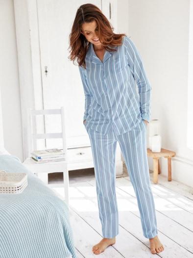 Klimasoft-Schlafanzug Pastellstr.