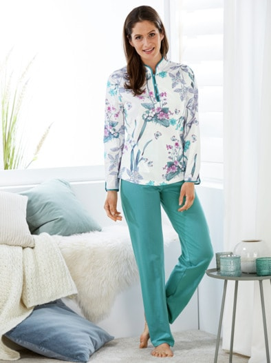Soft-Baumwoll-Schlafanzug Hortensie