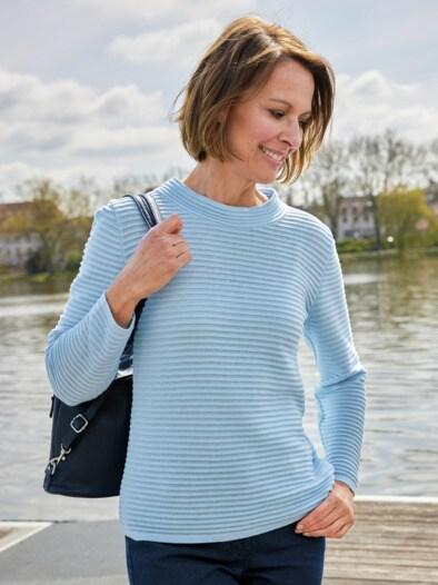 Kaminkragen-Pullover