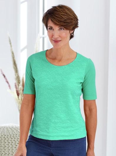 Bio-Baumwoll-Shirt Spitze