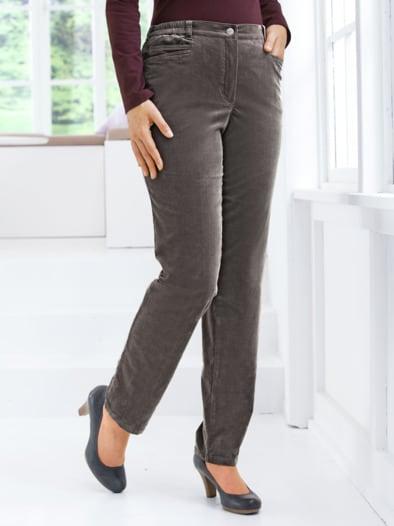 Komfortbundhose Stretch-Cord Uni