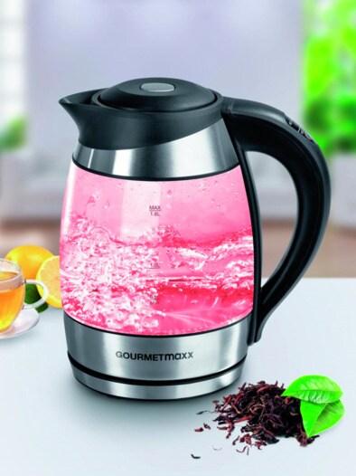 Glas-Wasserkocher LED-Beleuchtung Schwarz im Online-Shop bequem ...