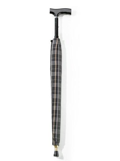 Regenschirm mit Gehstock