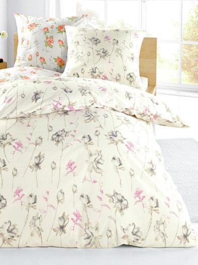 Baumwoll-Bettwäsche Blumenregen