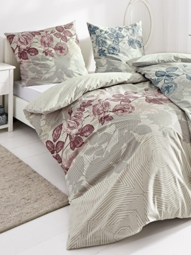 Baumwoll-Bettwäsche Rosenblätter