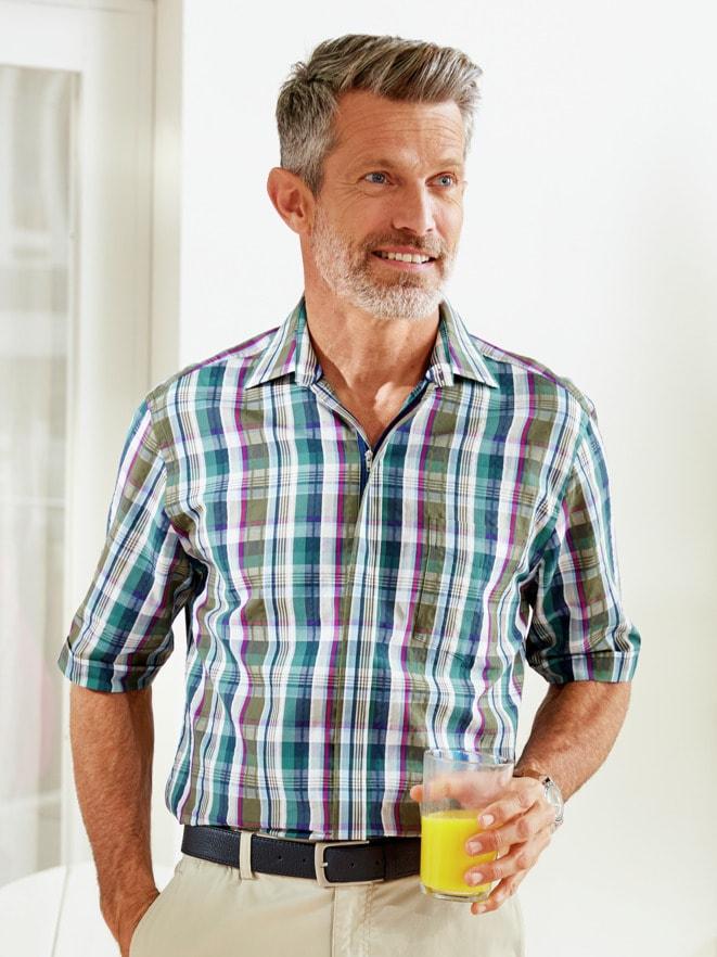 Seersucker-Hemd Tropenfrisch