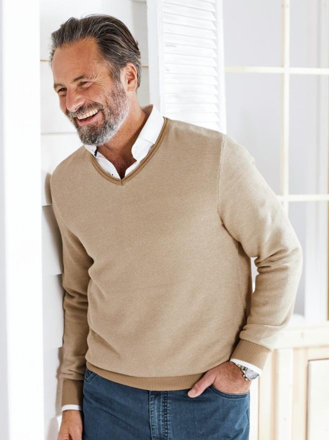 Struktur-Pullover Pima-Baumwolle