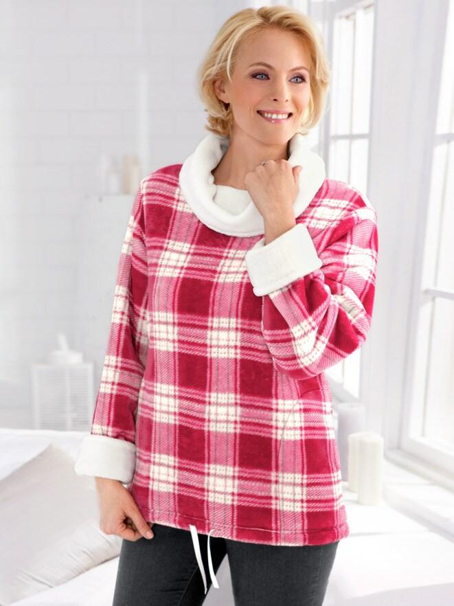 Kuschelfleece-Long-Pullover