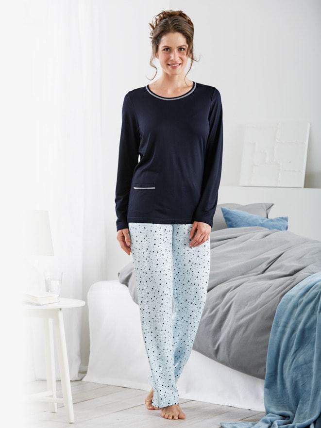 Thermosoft-Schlafanzug Sterne