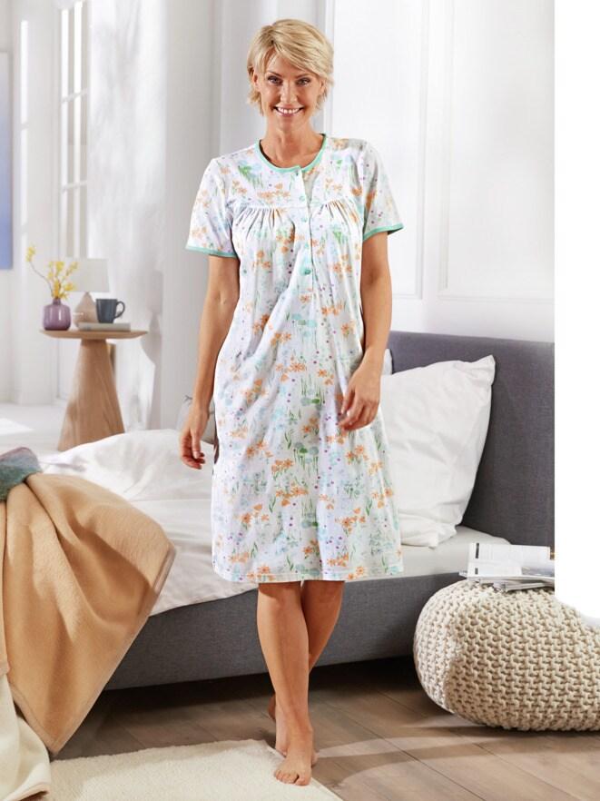 Baumwoll-Nachthemd Zarte Blüte