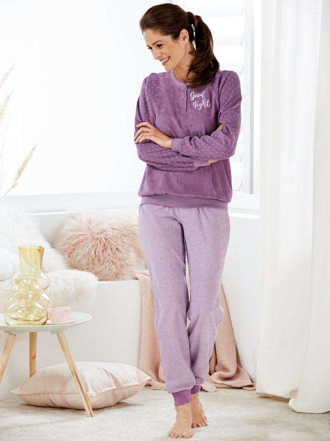 Frottier-Schlafanzug Kuschelwarm