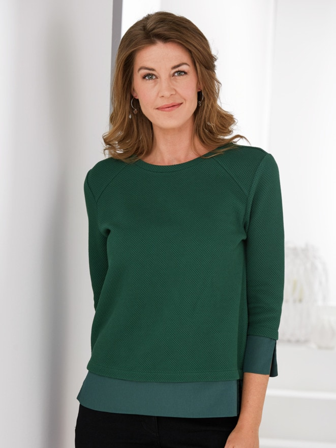 Soft-Sweatshirt 2-in-1-Optik