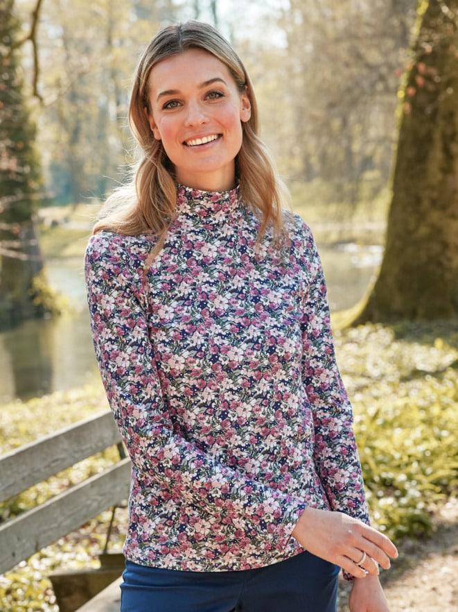 Bio-Baumwoll-Shirt Blütenzauber