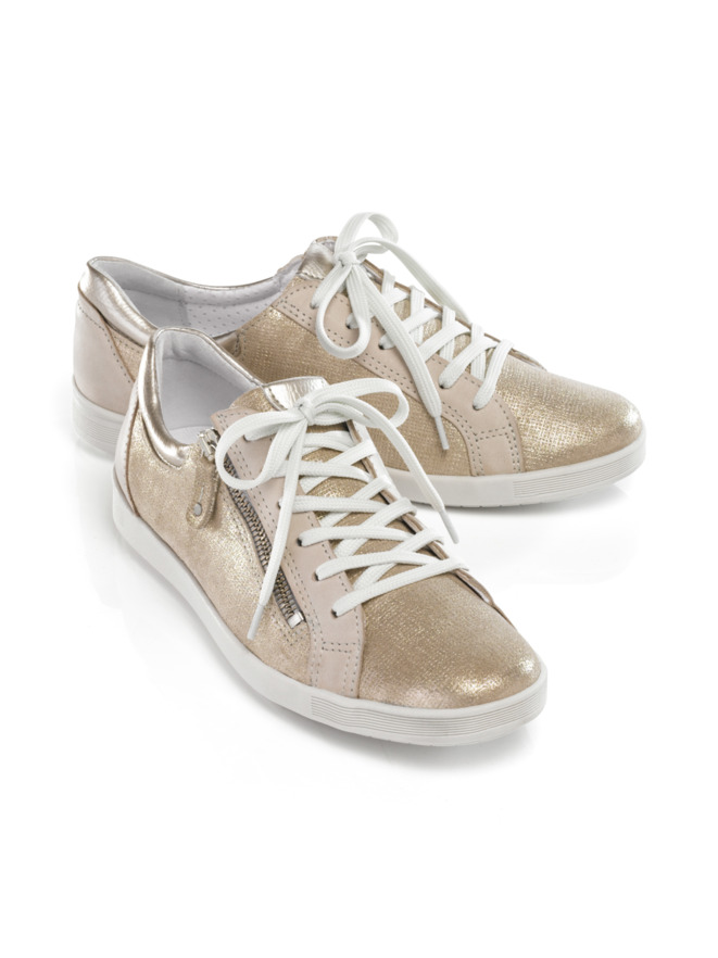 Reißverschluss-Sneaker Shiny low