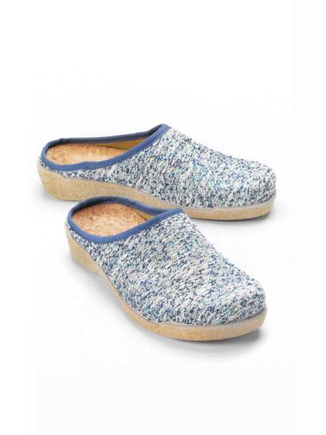 Strick-Pantolette Fußfrisch