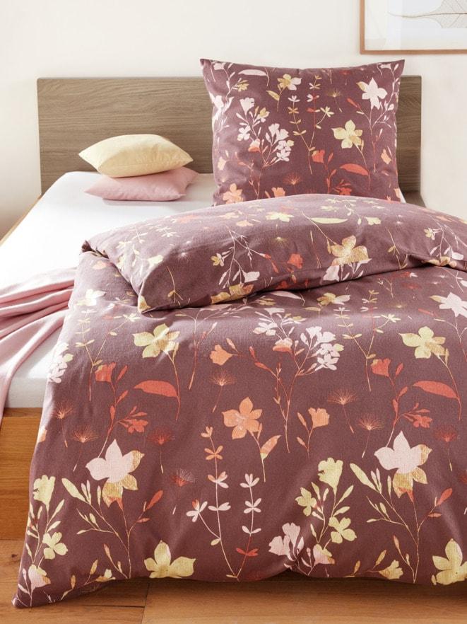 Feinbiber-Bettwäsche Blütentraum