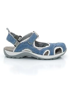 Trekking-Sandalenschuh Jeansblau Detail 7