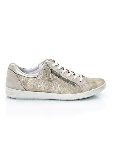 Reißverschluss-Sneaker Shiny low Roségold Detail 7